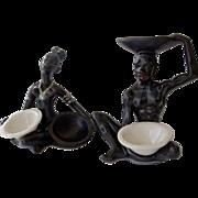 PR vintage African Ceramic  Figures