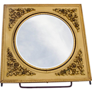 Rose Filigree Embossed Flip Vanity Mirror