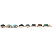 Sterling and Multi Stone Bracelet