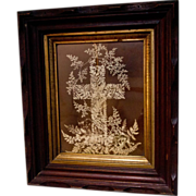 19th century Albumen Funeral Cross Picture