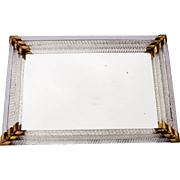 Vintage Glass Edged Mirror Vanity Tray