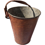 Antique Fire Leather Fire Bucket