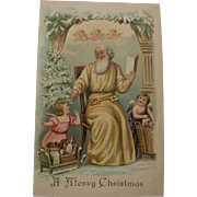 Vintage Father Christmas with Angels, 1907