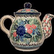 Boleslawiec Pottery Teapot, Poland