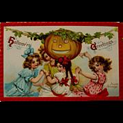 Halloween Postcard, Frances Brundage, 1910