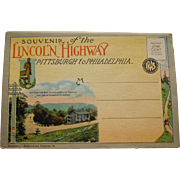 Vintage Lincoln Highway Souvenir Fold Out