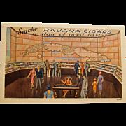 Havana Cigar Exhibit Postcard, New York World's Fair, 1939