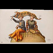Vintage Princeton University Postcard,F Earl Christy,1907