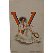 Virginia State University Girl Postcard, 1909