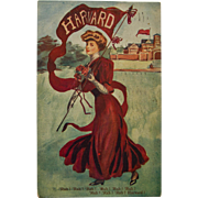 Harvard Girl Postcard, 1909