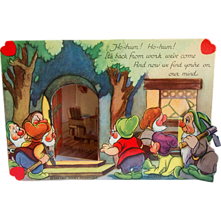 Vintage 1938 Disney Fold Out Valentine