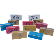 Set of `12 Victorian Wooden Blocks