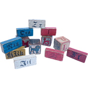 Set Of 12 Early Wooden Blocks