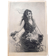 Photogravure on Tissue, 1891, Signed