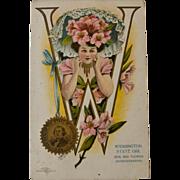 West Virginia Girl Postcard, 1906