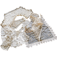 Selection of Victorian Lace Collars, Bibs