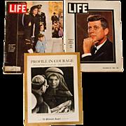 Set of 3 Commemorative Kennedy Magazines