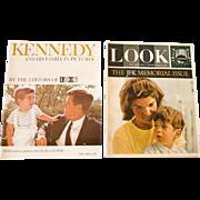 2 Commemorative Look Magazines, John F. Kennedy