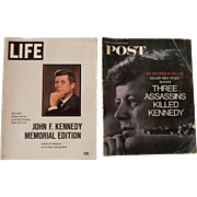 2 Commemorative Magazines of JFK- Life and Post