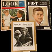 3 Commemorative Magazines of JFK, 1963