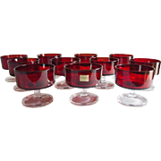 Set of 11 Arcoroc Luminarc Ruby Desserts