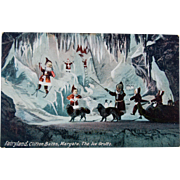 Christmas Postcard, Fairyland, The Ice Grotto