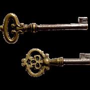 2 Decorative vintage Furniture Skeleton Keys