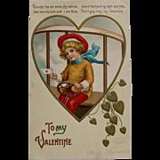Vintage Ellen Clapsaddle Valentine, 1907