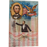 Centennial Commemorative Postcard Of Abraham Lincoln