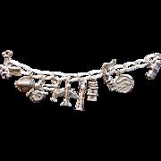Silver Heavyweight  Link Charm Bracelet