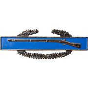 WWII Sterling Army Rifle Badge Pin