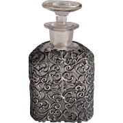 Victorian Pewter Filigree Vanity Bottle