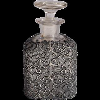 Victorian Pewter Filigree Vanity Bottle