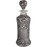 Victorian Pewter Filigree Cologne Bottle