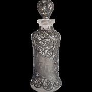Victorian Pewter Filigree Cologne Bottle