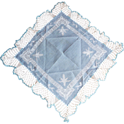 Fancy Blue Victorian Hanky
