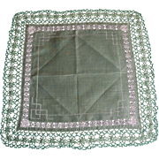 Fancy Green Hanky