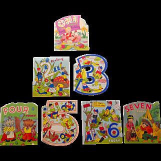 Child's Birthday Cards,1-7,NOS