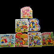 Vintage Child's Birthday Cards, 1-7, NOS