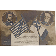 Rotograph Postcard of Lee and Grant, 1906