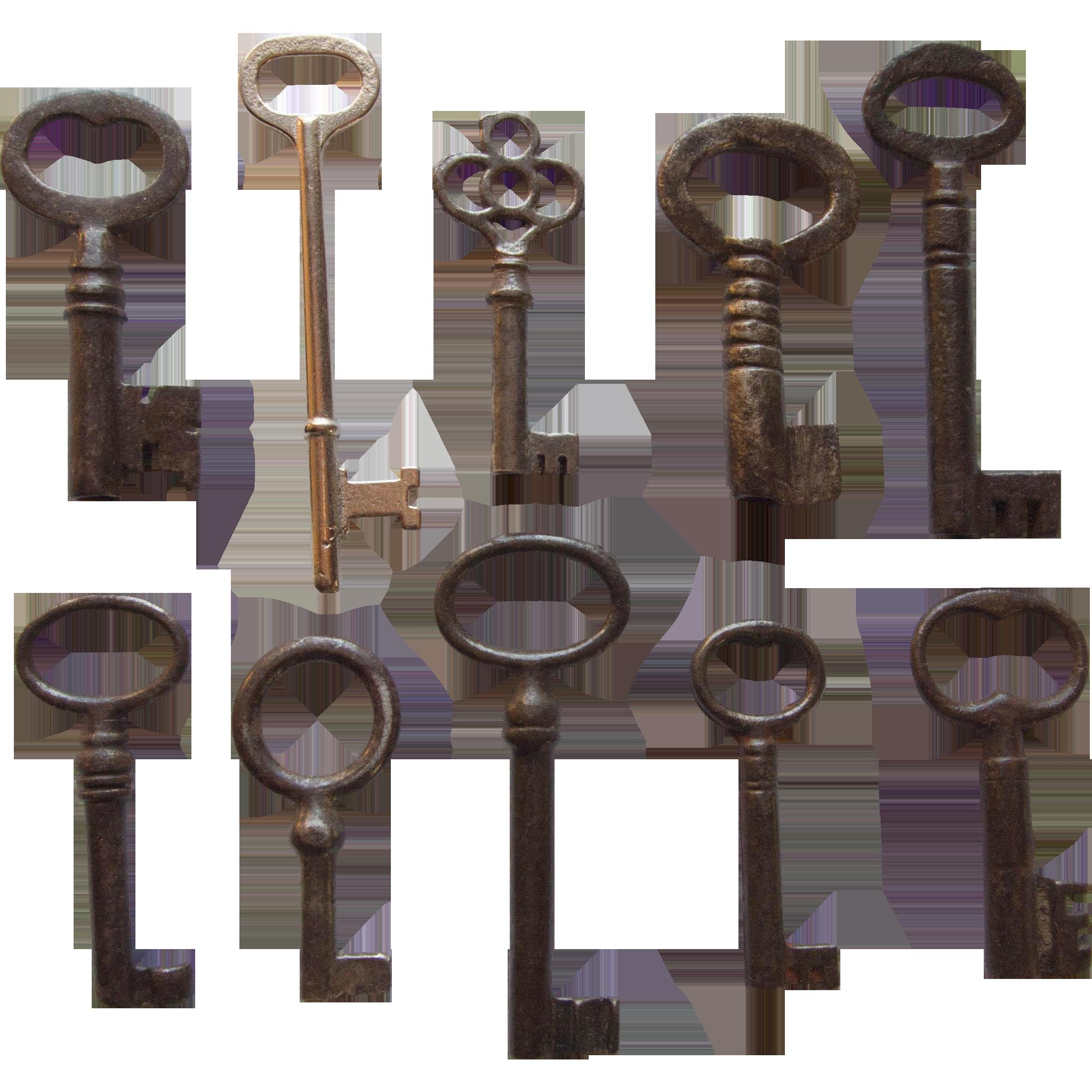 Vintage 10 Skeleton Keys