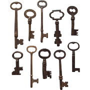 Set of 10 Vintage Skeleton Keys
