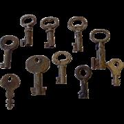 Set of 10 Small Skeleton Keys