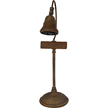 Vintage El Camino Real Mission Bell Guide Post
