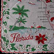 Vintage Florida State Hanky