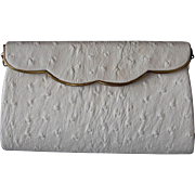 Vintage Milch Genuine Ostrich Clutch Purse