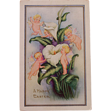 Early Postcard with Cherubs
