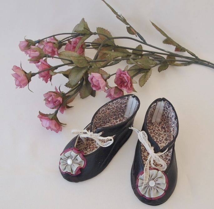 Handcrafted Leather Doll Shoes for Bebe