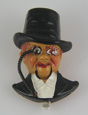 Coro Late 1930's Charlie McCarthy Mechanical Figural Fur Clip Book Piece