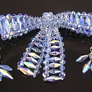Vendome Aurora Borealis Bow Brooch & Dangle Earrings